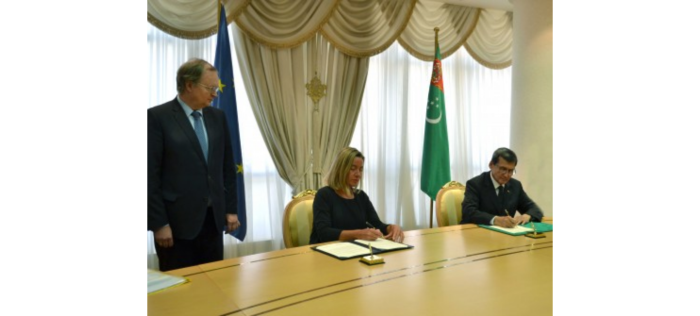 DOCUMENT ON THE ESTABLISHMENT OF THE DELEGATION OF THE EUROPEAN UNION IN TURKMENISTAN WAS SIGNED IN ASHGABAT
